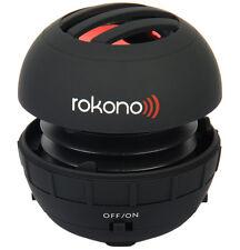 Rokono Bass + Mini Haut-parleur pour iPhone/iPad/iPod/Lecteur MP3/Ordinateur Portable-Noir