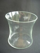"""LARGE VINTAGE CLEAR GLASS VASE ~STYLISH PIECE ~5.5"""" TALL & 5.5"""" IN DIAMETER"""