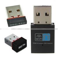 150/300Mbps Mini Wireless USB Wifi Adapter LAN-Antenne Netzwerk-Adapter RTL8188