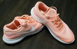 Nike Flex Experience RN 7 Women's Running Shoe Size 7.5 Peach White 908996-601