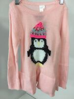 CAT & JACK TODDLER GIRLS PENGUIN PULLOVER SWEATER PINK 3T NWT