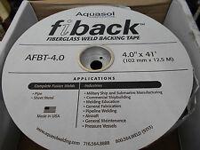 AQUASOL FIBACK WELD BACKING TAPE BULK LOT OF 4 ROLLS AFBT-4.0  102MM X  12.5 MTR