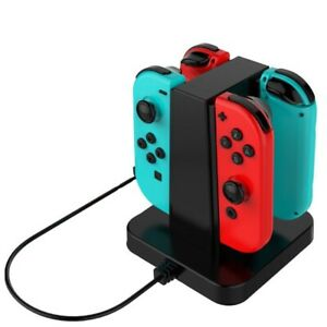 4 In 1 Controller Charger Stand Charging Dock for Nintendo Switch Joy-Con Pro