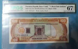 1978 Dominican Republic 100 Pesos Oro NPGS67 EPQ (Collector Series Specimen)