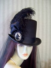Black Top Hat, Steampunk Hat, Civil War, Equestrian Hat, Victorian Hat, Derby