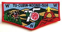 TU CUBIN NOONIE LODGE 508 UTAH NATIONAL PARKS UT PATCH OA 75TH ANNIVERSARY FLAP