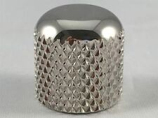 """Nickel Dome Knob for Tele - Fits 1/4"""" Solid Shaft Pots on Telecaster or J. Bass"""