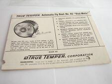 1985 True Temper No. 85 Visa-Matic Automatic Fly Manual Instruction Booklet