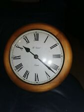 Wooden Wall Clock By H Samuel