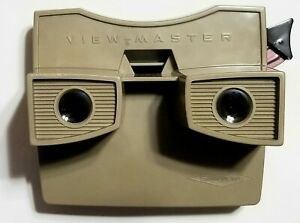 View Master Standard Stereo Sawyers Model G 1950's Mickey Mouse reels tan color
