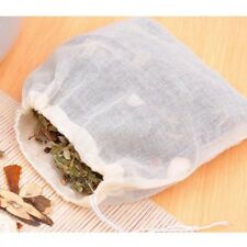 Large Drawstring Cotton Herbs Muslin Tea Bags Filters