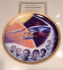 USS Starship Enterprise Star Trek Gold Border Commemorative Collector Plate NEW