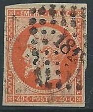 1853-60 FRANCIA USATO NAPOLEONE III 40 CENT - EDF001