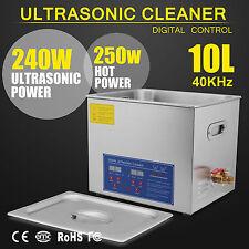 10L Digital Ultrasonic Cleaners Cleaning Jewellery  Bath Tank Timer Heater