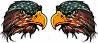 """American Flag Eagle Head version 3 Decal 5"""" Pair Free Shipping"""