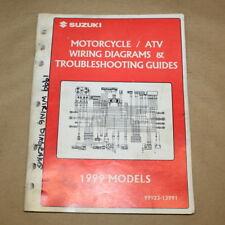 Suzuki 1999 Atv/Motorcycle Factory Wiring Electrical Diagrams Manual 99923-13991