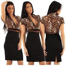 Work Polyester Animal Print Dresses for Women