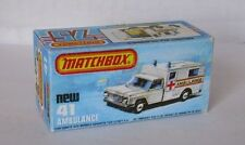 Repro Box Matchbox Superfast Nr.41 Ambulance