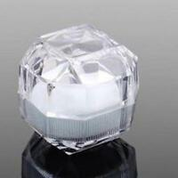 10pcs Jewelry Pretty Clear Acrylic Crystal Ring Earrings Boxes Gift Boxes L9