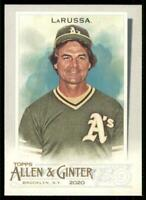 2020 Topps Allen and Ginter Base SP #319 Tony LaRussa - Oakland Athletics
