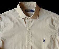 Men's POLO RALPH LAUREN Khaki Tan Poplin Cotton Shirt 3XB 3X 3XL NWT NEW Nice!