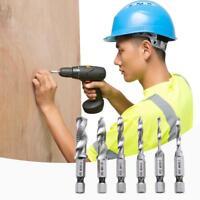 6pcs/set Hex Shank HSS Metric Right Hand Screw Thread Tap Taper Drill Bits Tools