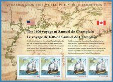 USA Sc. 4074 39c Exploration of de Champlain 2006 MNH pane