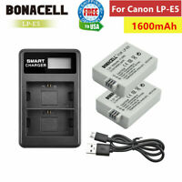 LP-E5 Battery / Charger For Canon Rebel T1i XS XSi 450D 500D 1000D Kiss X3 X2 TP