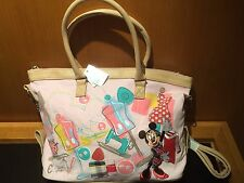 Disneyland Hong Kong Minnie Mouse Fashion Designer Shopper Hand Bag Purse NWT