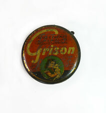 Boite Tole litho Cirage Grison French Antique Tin Wax Polish Shoe Grison