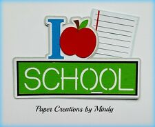 Craftecafe Mindy Love School Fall premade paper piecing Title scrapbook page