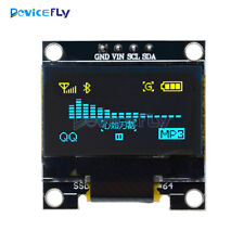 "Yellow Blue 0.96"" I2C IIC Serial 128X64 OLED LCD LED Display Module for Arduino"