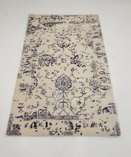 INDIAN HAND TUFTED, MODERN, FLORAL RUG,2.40 x 1.50M, IVORY, GREY, PURPLE