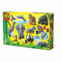 SES CREATIVE Children's Animals Casting and Painting Set, Unisex, 5 to 12 Years