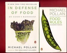 2 books by Michael Pollan - In Defense of Food + Food Rules -Free Shipping!