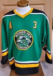 Irondale Knights Mounds View Mustangs High School Minnesota K1 Hockey Jersey #3