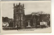 An Early Real Photo Post Card of Swanwick Church And War Memorial. Derbyshire