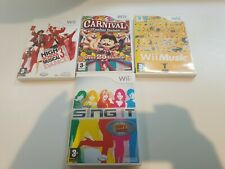Nintendo Wii Game Bundle | 4 Games Includes Carnival Sing It Music HIGH School