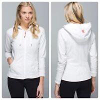 Lululemon Movement Heathered White Jacket Zip Up Size 8 Gray