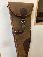 Leather Rifle Case Oak Brown Rigid John Shooter CLEARANCE STOCK