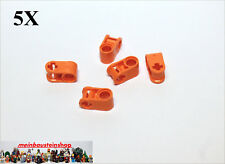 5X Lego® 6536 Technic Achs- Pin- Verbinder Connector 2 Fach Orange NEU