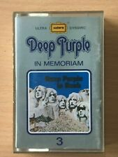 DEEP PURPLE In Memoriam 3 SAUDI Paper Label CASSETTE TAPE