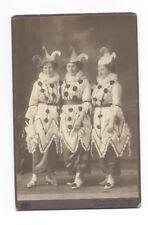 altes org. CDV Foto Fasching Frauengruppe in Kostümen um 1900 Karneval Erfurt