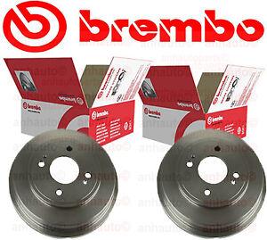 Pair BREMBO Rear Brake Drum  Honda Civic 1.7 01-05 Honda Fit 09-12 (2013 Base)