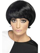 anni '60 Mod Parrucca da donna corto moda nero accessorio per costume