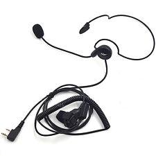 2 Pin Headset Headphone Earpiece Finger PTT for Baofeng Kenwood PUXING TYT Radio