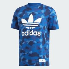 BAPE x Adidas Blue Camo Tee Size Large Brand New