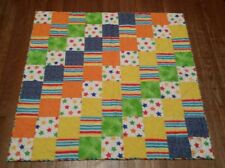Rainbow Bright Unisex Kids Baby Toddler quilt 40 x 41 Soft Vibrant Multicolored