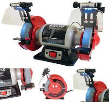 "New Heavy Duty Workshop Twin Wheel 250w 150mm 6"" Bench Grinder and Polisher 230v"