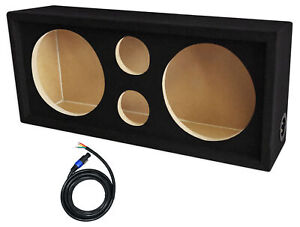 "Rockville CH103SP Chuchero Car Audio Enclosure For (2) 10"" Mids + (2) 3"" Tweeter"